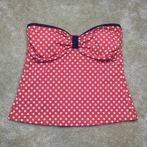 Tommy Hilfiger Red White Blue Swim Tube Top Size 8